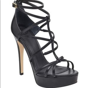 Kico strappy platform heels by Guess
